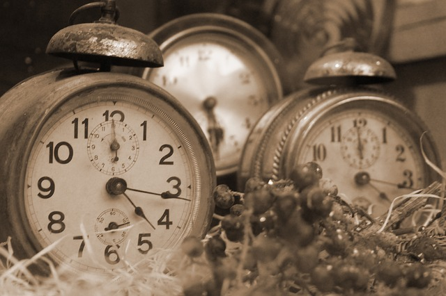 Picture of old-fashioned clocks, how to become more organised